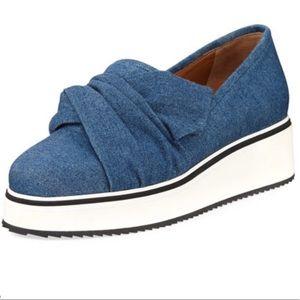 NWOB! Veronica Beard Effie Denim Platform Sneakers